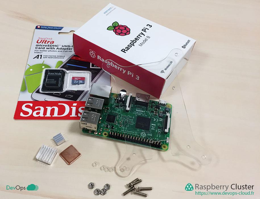 Raspberry Cluster - matériel pour un étage