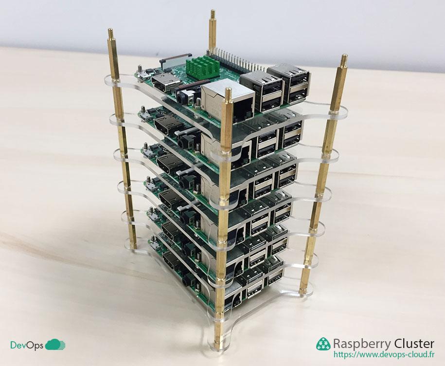 Raspberry Cluster - montage des 6 étages