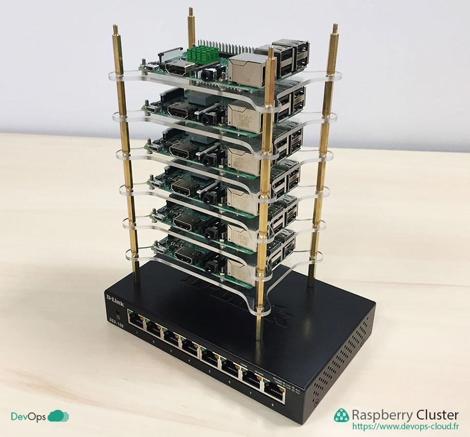 Raspberry Cluster - montage du clusteur sur le switch