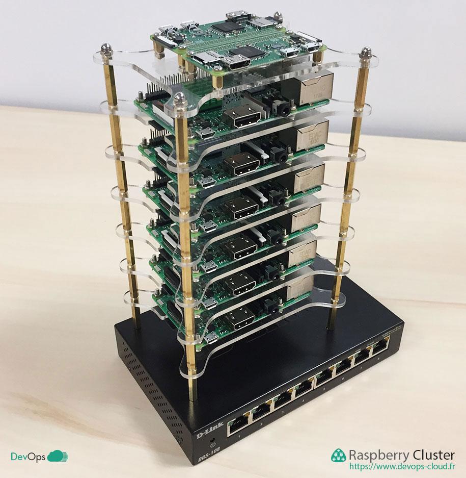 Raspberry Cluster - montage du dernier étage