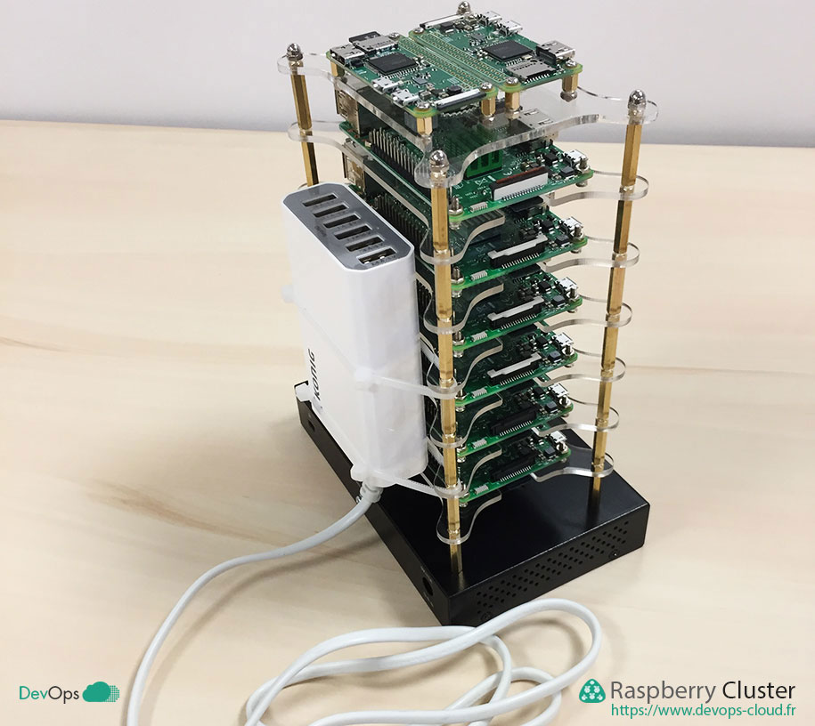 Raspberry Cluster - montage du chargeur USB